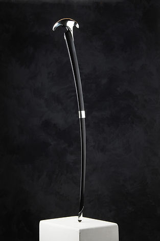 Contemporary Art Awards 2017 Highly Commended | Jeramie Scahill | Walking Stick | Stirling silver & rosewood | 2016