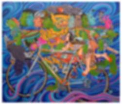 Thirawut Bunyasakseri | Kidnapping of Sita 2016 | Acrylic on canvas | 99 x 85cm | 2016