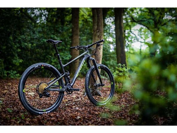 Kona mountain bike at Sutton circuit bike shop trail in leicester