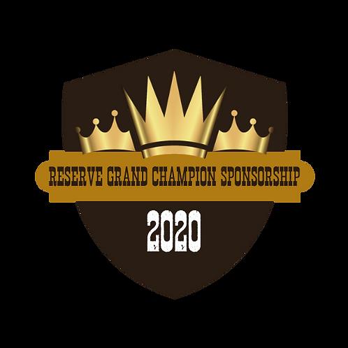 Reserve Grand Champion Sponsorship