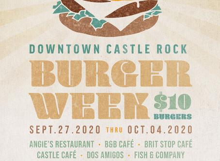 DOWNTOWN CASTLE ROCK ANNOUNCES FALL 2020 BURGER WEEK EVENT