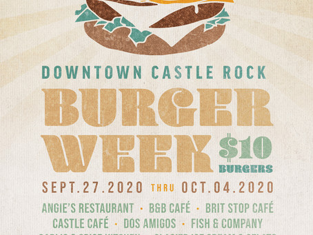 DOWNTOWN CASTLE ROCK ANNOUNCES FALL 2020 BURGER WEEK EVENT