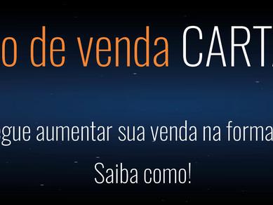 Aumento das vendas por CARTÃO DE CRÉDITO