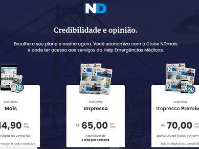 Nova Landig Pagee portal do Assinante nd+