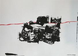"""""""Röd linje"""" 40x30"""