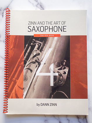 Zinn and The Art of Saxophone – Book 4