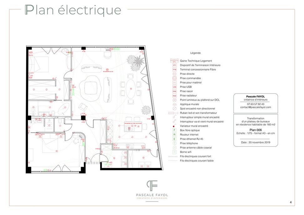 Plan électrique pour la déco d'un séjour à Avignon