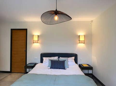 décoration d'intérieur pour une chambre dans les Alpilles