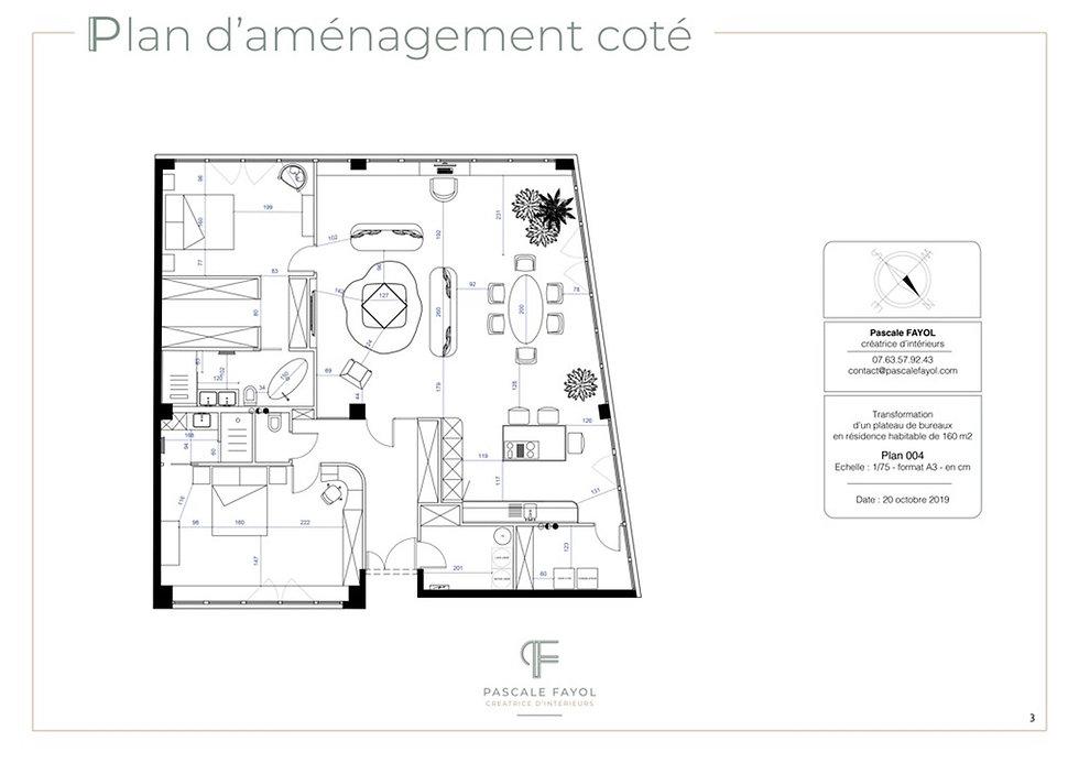 plan d'aménagement d'une villa et sa déco à Avignon