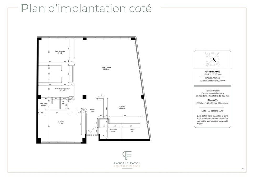 Plan coté pour la déco d'une villa à Avignon
