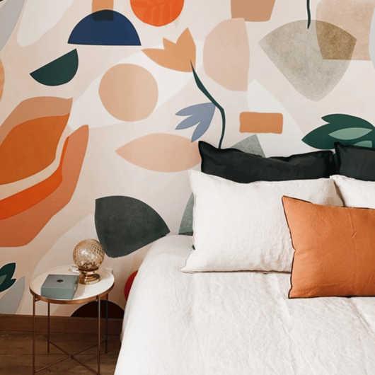 décoration d'une chambre dans un mas des Alpilles