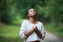 praying to god, posing african, american