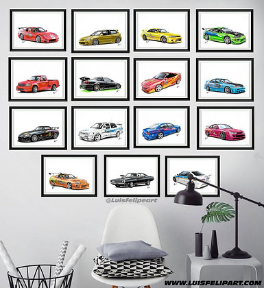 BOX WITH ALL 15 CARS