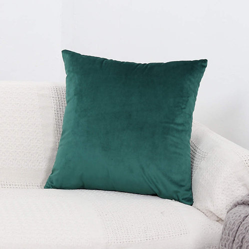 Velvet Cushion Cover (Dark Green)