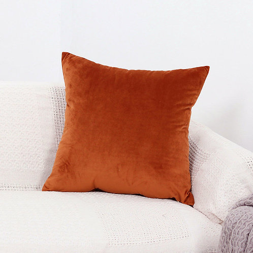 Velvet Cushion Cover (Orange)