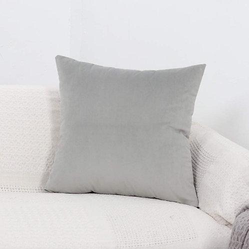 Velvet Cushion Cover (Light Grey)