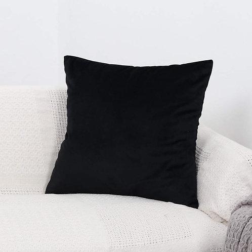 Velvet Cushion Cover (Black)