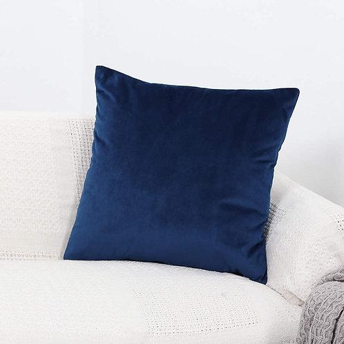 Velvet Cushion Cover (Navy Blue)