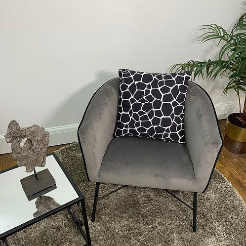 Black and White Mosaic Cushion Cover