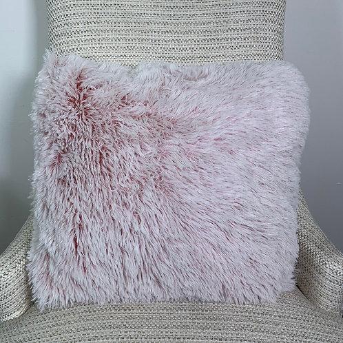 Faux Fur Cushion Cover - Blush