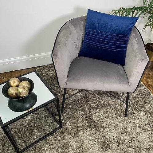 Luxury Velvet Cushion Cover - Dark Blue