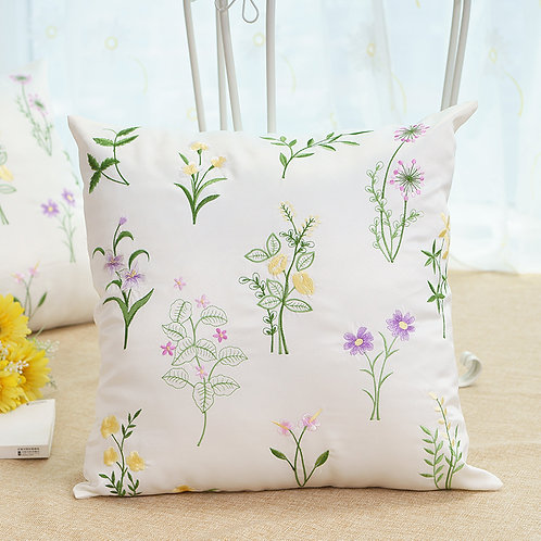 Beautiful Embroidered Floral Cushion Cover