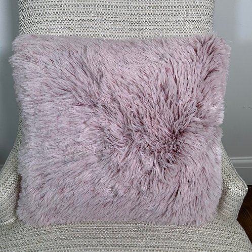 Faux Fur Cushion Cover - Cherry Pink