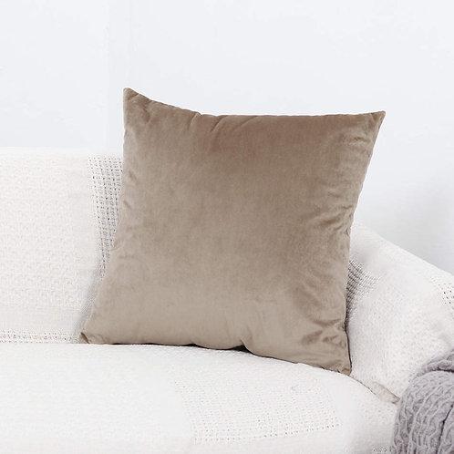 Velvet Cushion Cover (Dark Mink Brown)