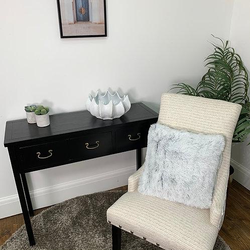 Faux Fur Cushion Cover - Light Grey
