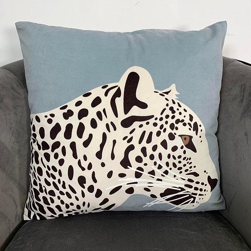 Velvet Leopard Print Cushion Cover
