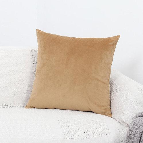 Velvet Cushion Cover (Golden Beige)