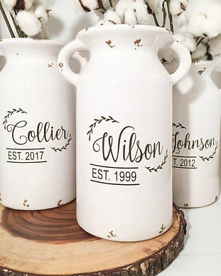 Personalized Milk Cans