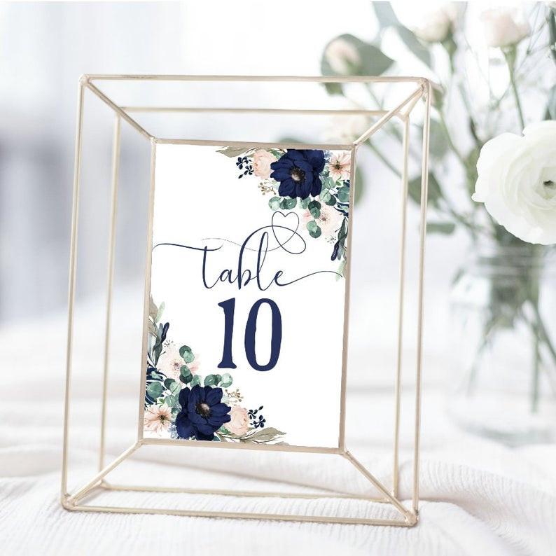 Navy Blue Wedding Tables