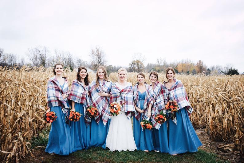 Bridesmaid Blanket Scarf