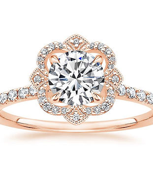 Crown Halo Engagement Ring