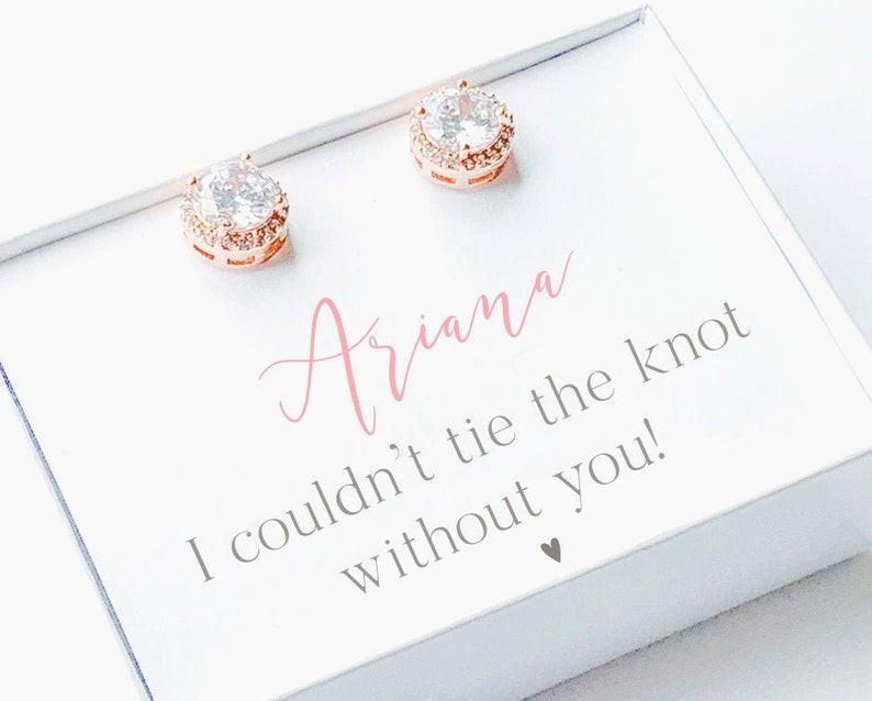 Personalized Bridesmaids Jewelry Gift