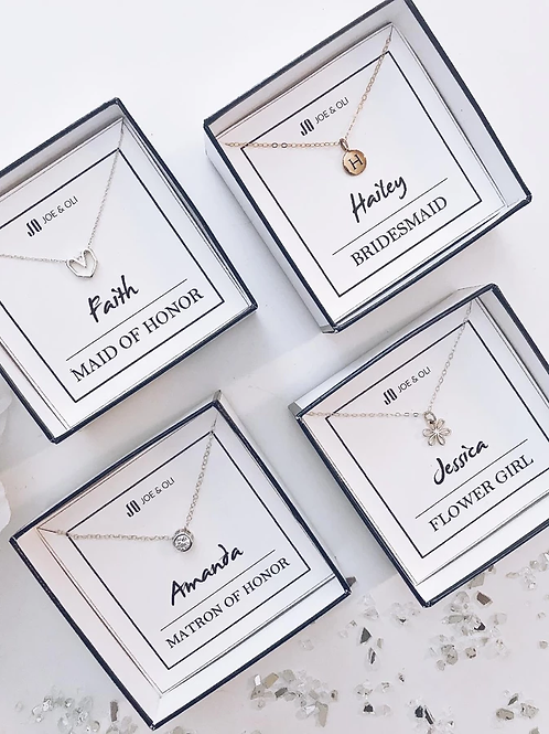 Personalized Bridal Party Necklace