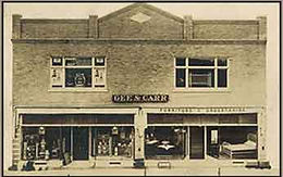 An old sepia toned photograph of what is now Bell's of Whitehall Clearance Center.