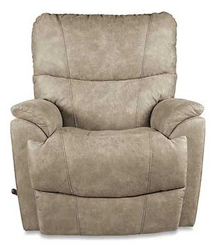 A biege leather La-Z-Boy recliner