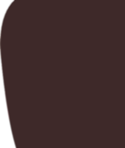 A purple brown curved background shape