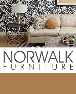 A photo of a Norwalk sofa in a living room scene