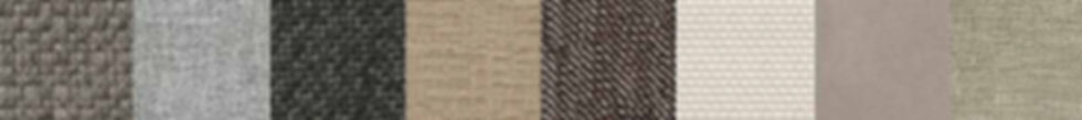 A strip of fabric swatches in various colors and textures