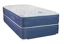 A Fairfield mattress and boxspring made in Michigan by Capitol Bedding.