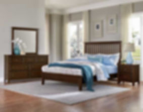A photo of a Vaugha-Bassett bedroom with wood floor and sunlight