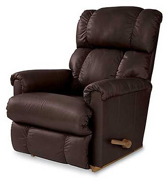 A chocolate brown leather La-Z-Boy recliner