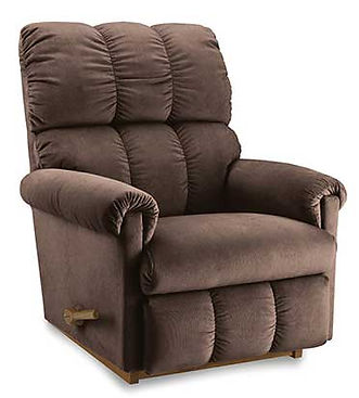 A brown fabric La-Z-Boy recliner
