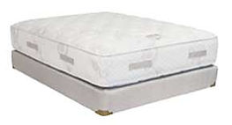A Classic Tradition Comfort Plush mattress and boxspring made in Michigan by Capitol Bedding.