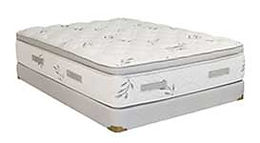 An Opulence Hybrid Plush mattress and boxspring made in Michigan by Capitol Bedding.