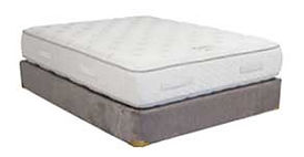 A Twilight mattress and boxspring made in Michigan by Capitol Bedding.