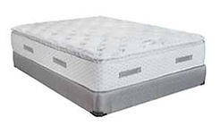 A T.O.S. (Touch of Softness) mattress and boxspring made in Michigan by Capitol Bedding.